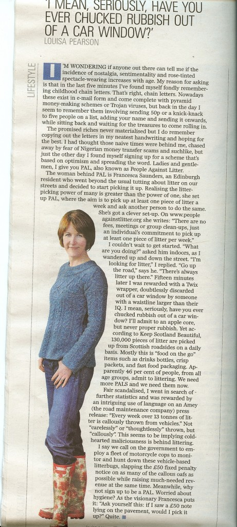 Pal Article Louisa Pearson Scotland on Sunday August 22nd 2010