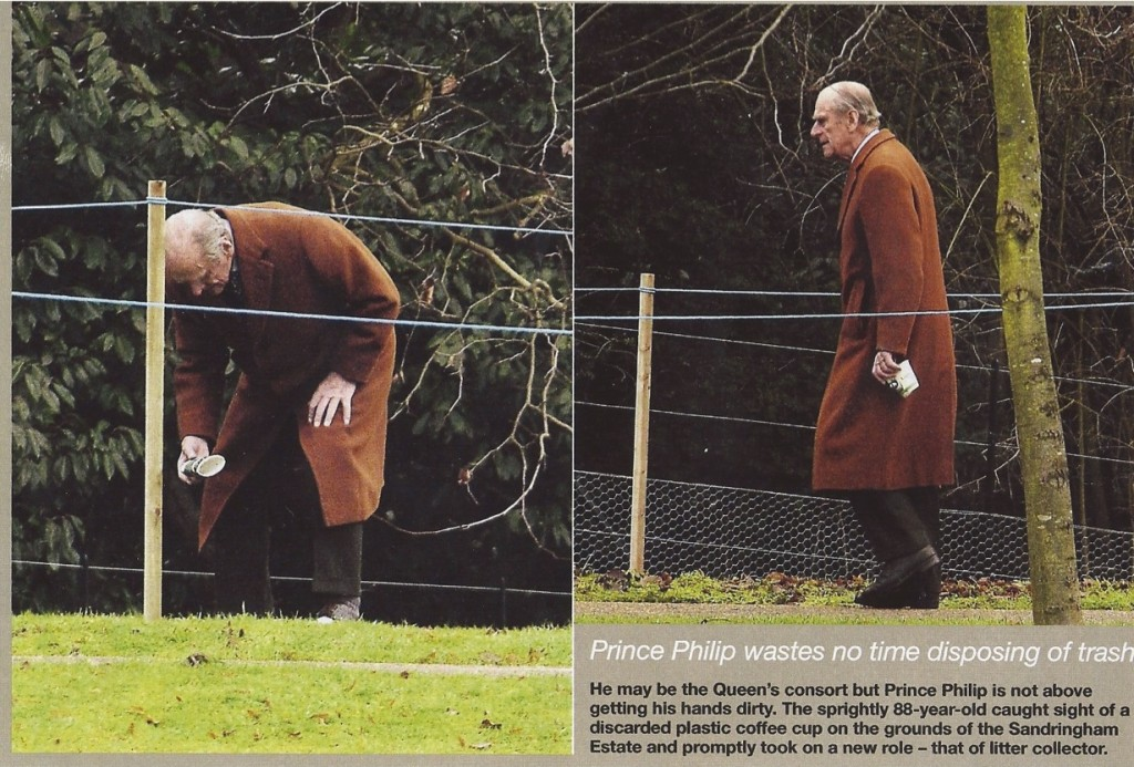 Prince Phillip sets a good example